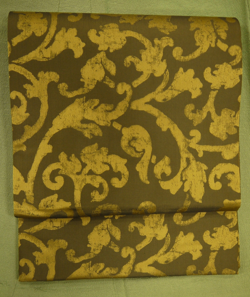 インド黄金繭全通袋帯