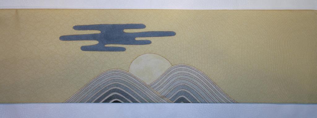 立川 かわむら オリジナル 手描き名古屋帯 古都東山の陽光